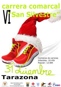 Cartel San Silvestre Tarazona 2014