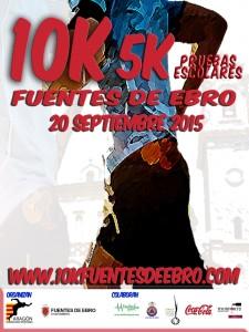 Cartel 10K Fuentes de Ebro 2015