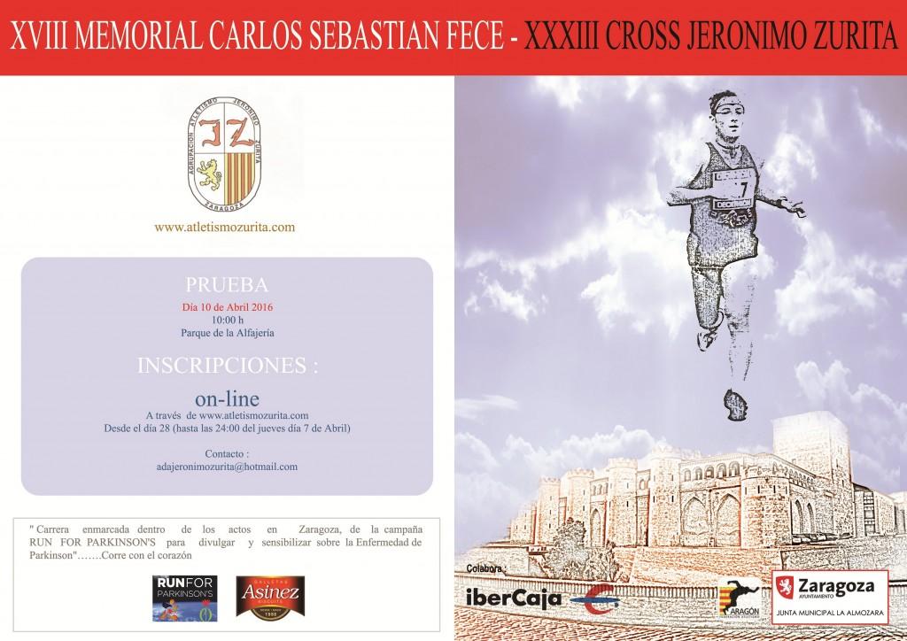 Cartel Cross Jerónimo Zurita 2016