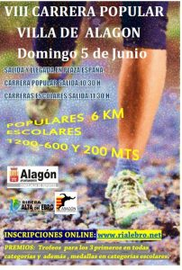 Cartel Carrera Popular Alagon 2016