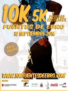 Cartel 10K Fuentes de Ebro 2016