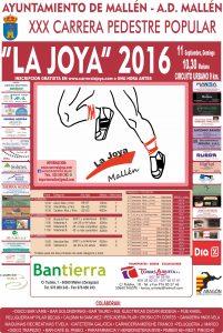 Cartel La Joya Mallen 2016