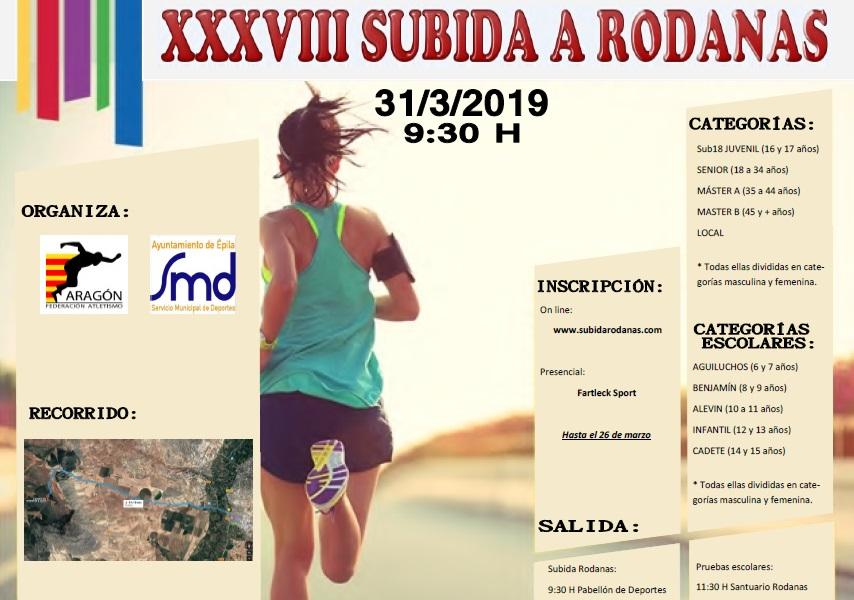 Cartel Subida Rodanas 2019