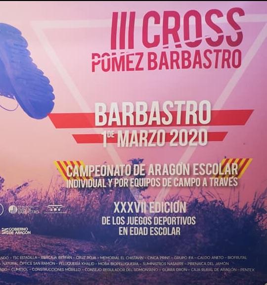 2020.03.01 FOTO CARTEL Cto de Aragón Cross JDEE